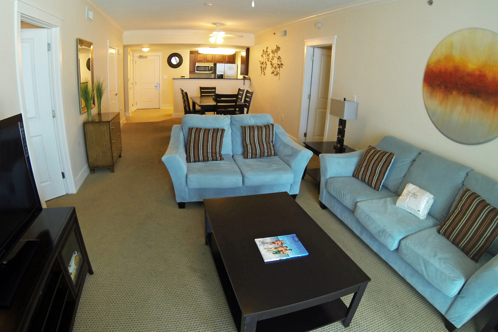 Waterscape Condo Living Room - Waterscape Condominium Rentals